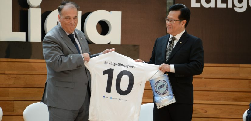 La Liga President Javier Tebas opens Singapore office
