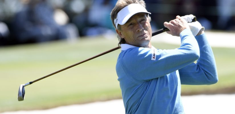 Apr 9, 2016; Augusta, GA, USA; Bernhard Langer hits his tee shot on the 3rd hole during the third round of the 2016 The Masters golf tournament at Augusta National Golf Club. Mandatory Credit: Michael Madrid-USA TODAY Sports  / Reuters Picture Supplied by Action Images *** Local Caption *** 2016-04-09T190127Z_1487862926_NOCID_RTRMADP_3_PGA-THE-MASTERS-THIRD-ROUND.JPG